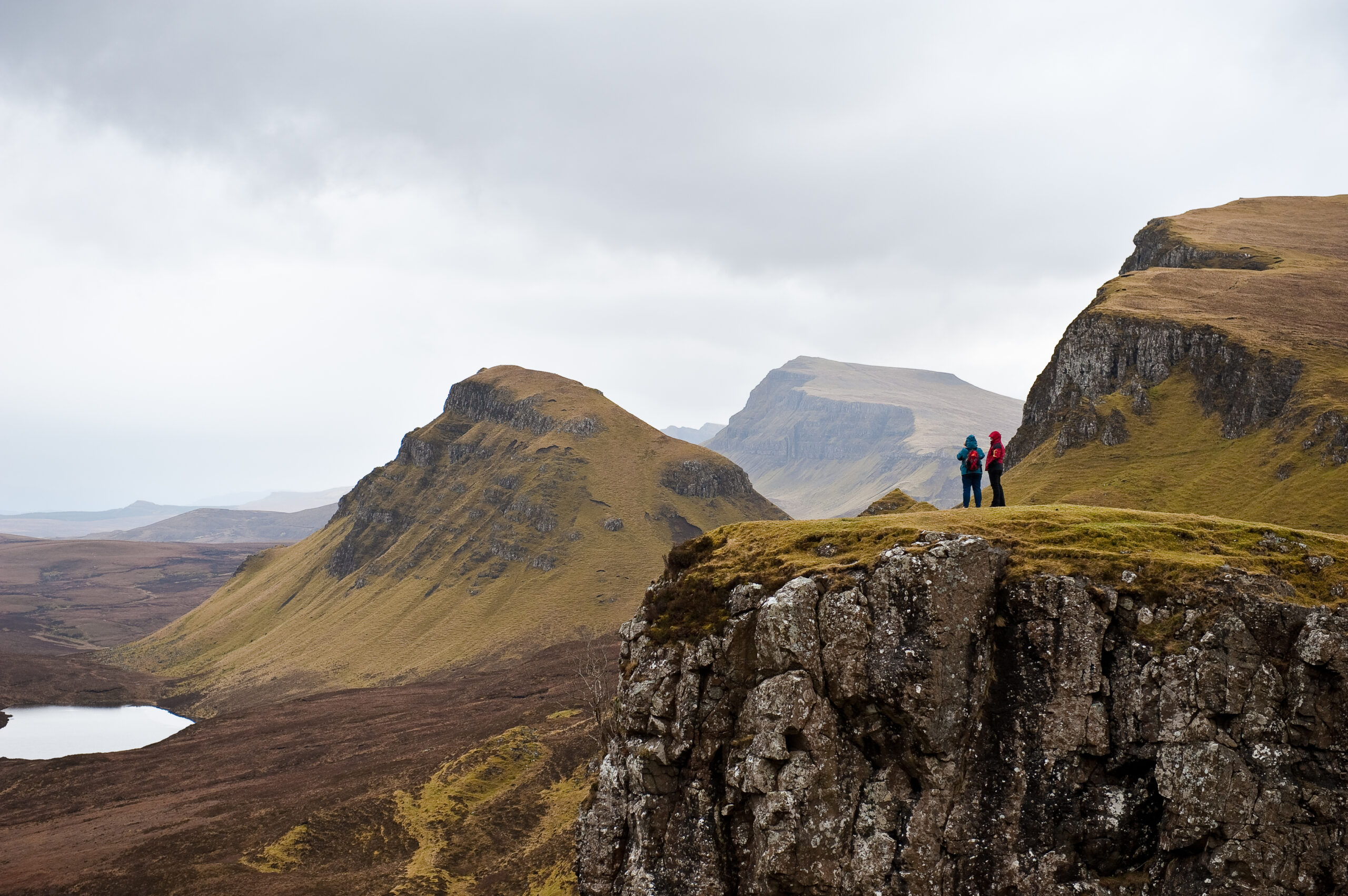 Scotland mountain with people